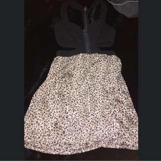 Leopard Print Cut Out Blurr Dress 10