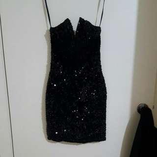 Black Sequin Dress!