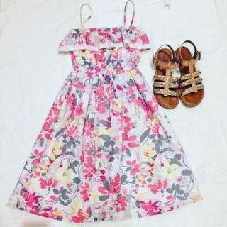 Floral Pink Strap Dress