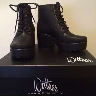 Wittner Lace Up Boots