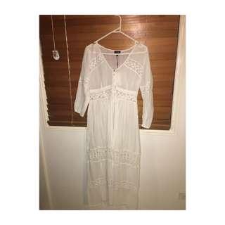 Bardot boho Maxi Dress