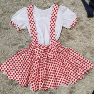 •Polka jumper dress (set)