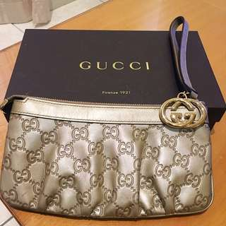 (Pre-Loved) Gucci Guccissima Interlocking G Wrislet (Champagne Colour)