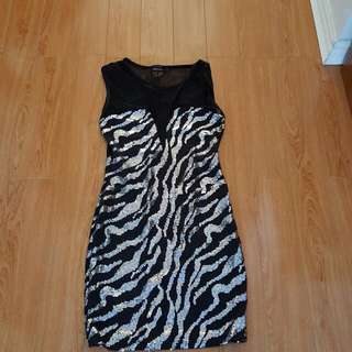 Black Sequin Dress Size Small