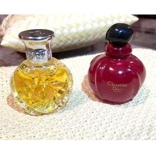 Christian Dior & Ralph Lauren miniature bottle samples 4ml each