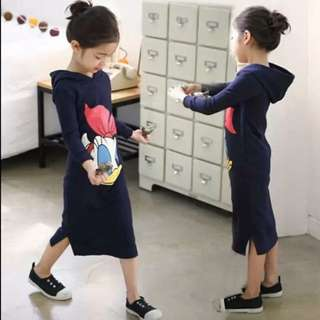 Daisy Duck Hoodie Maxi Dress