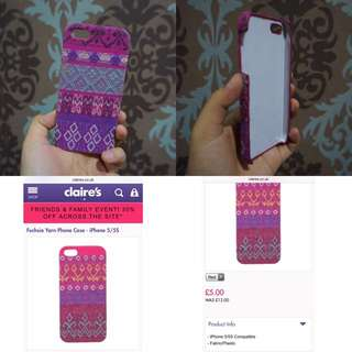 Case Iphone 5/5s (Claire's)
