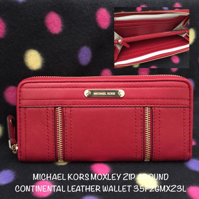 dd83accc7f86eb 35F2GMXZ3L MICHAEL KORS Moxley Zip Around Continental Leather Wallet ...
