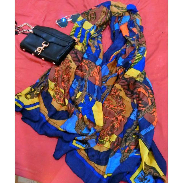 美名牌風格!韓國空運時尚氣質披肩兩用圍巾