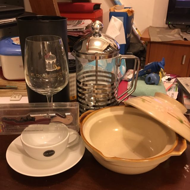 隨便賣~全新紅酒杯/陶鍋/咖啡杯/紅酒開瓶器/泡茶器#居家生活好物