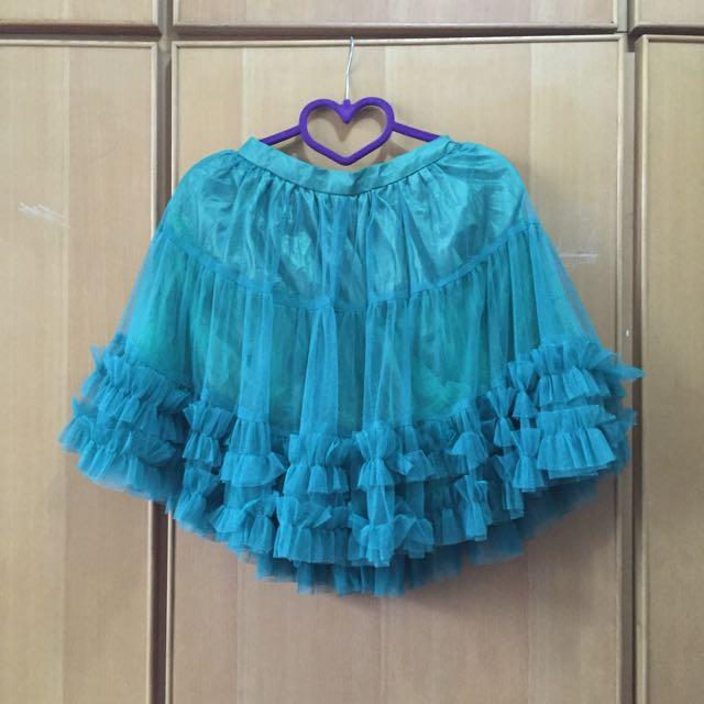 綠 澎紗裙