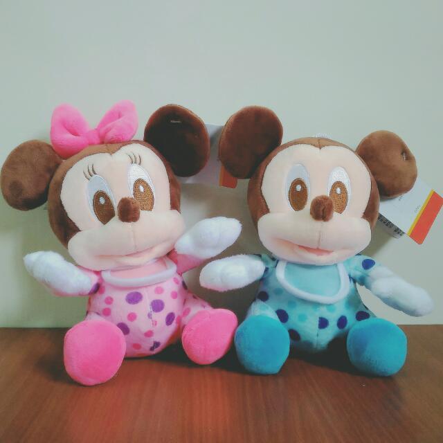 迪士尼 寶寶 米奇米妮 娃娃