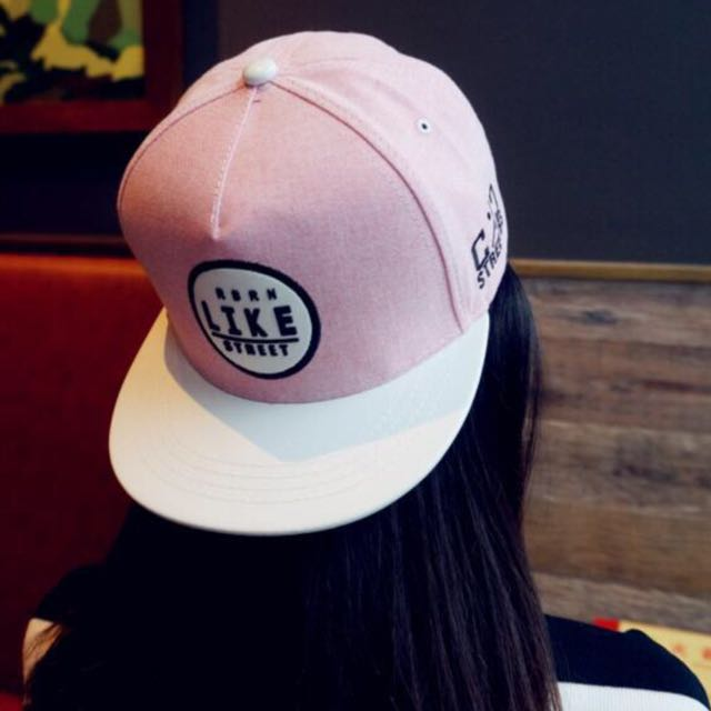 韓版簡約風格皮革拼接帽簷 造型版帽 棒球帽 平沿