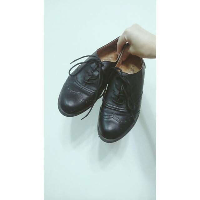 黑色牛津鞋 紳士鞋 平底鞋 學生鞋