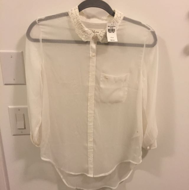 Abercrombie & Fitch Sheer Blouse