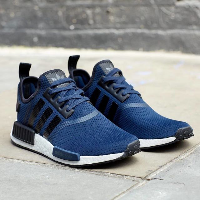 8b0dc2beb ... new zealand adidas nmd r1 runner navy blue sports sports games  equipment on carousell 33203 afb9d