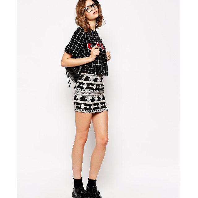 ASOS Aztec Print Skirt