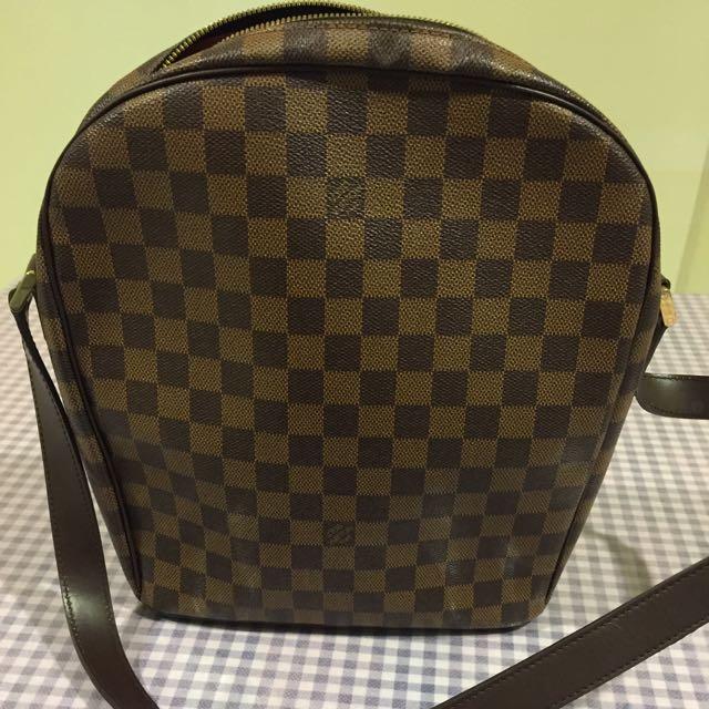 b528af69b0488 Authentic Louis Vuitton Damier Ebene Canvas Ipanema PM Shoulder Bag ...