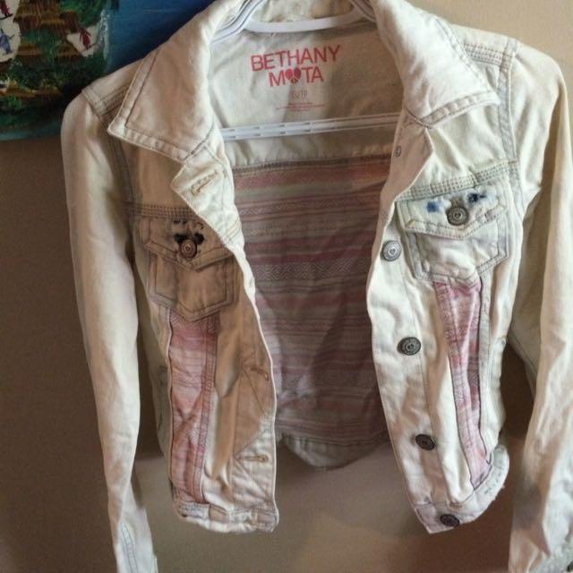 Bethany Mota Light Wash Jean Jacket