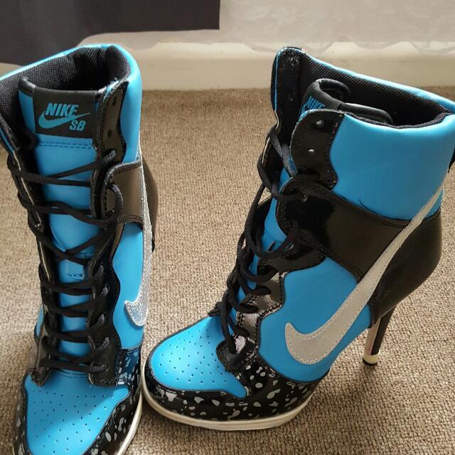 Black And Blue Nike High Heels