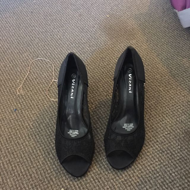 Black Size 9 Vizani High Heels
