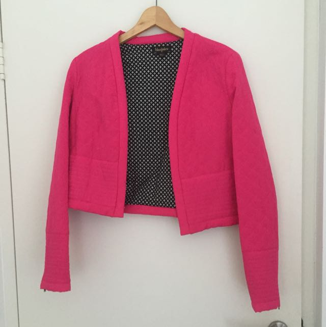 Blue Juice Jacket Hot Pink Size 10