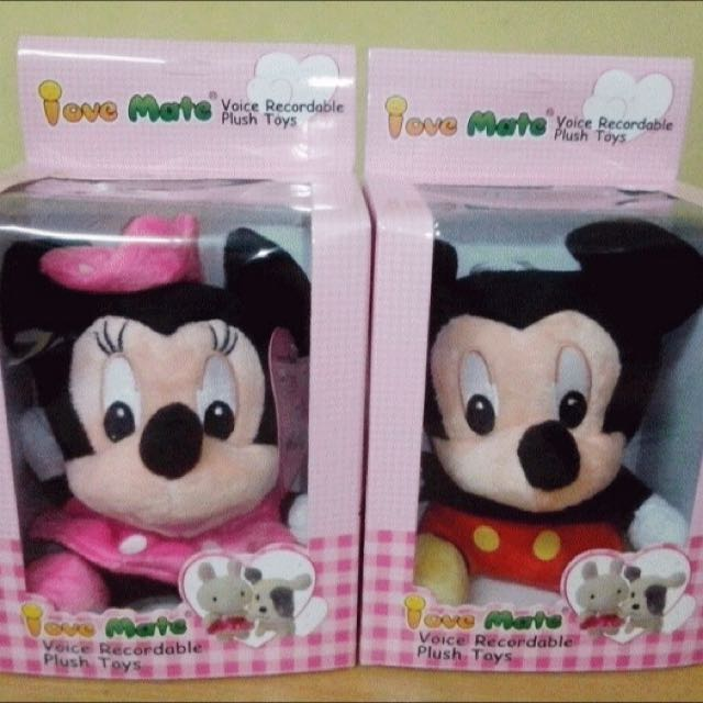 Boneka Rekam Mickey / Minnie Mouse