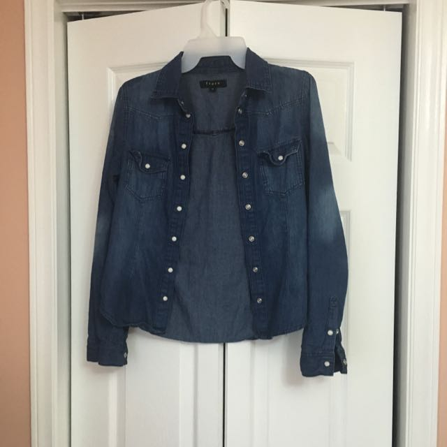 Button Up Jean Top