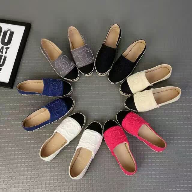chanel espadrilles either cloth or leather