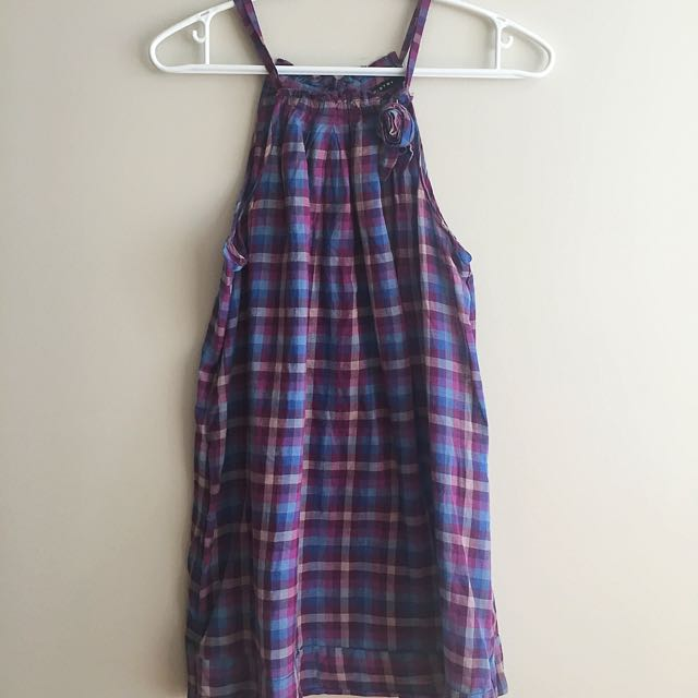 Chemistry Blue & Purple Checked Tunic