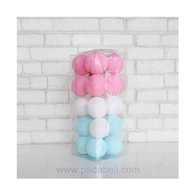 Cotton ball light Aqua tone