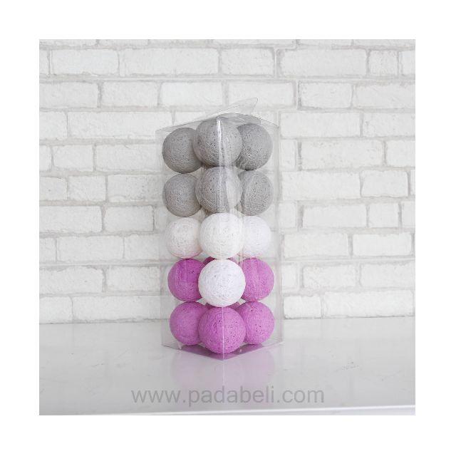 Cotton ball light Grey purple