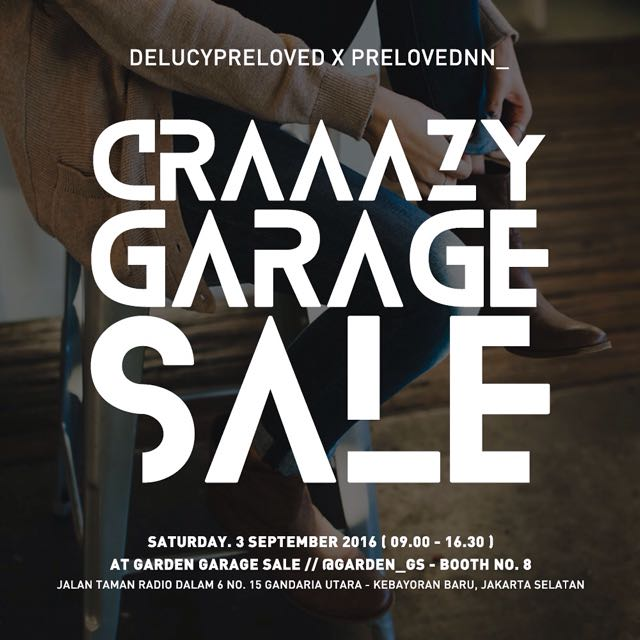 CRAZY GARAGE SALE! (3 Sept 2016)