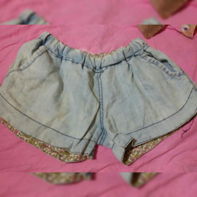 Denim Mid Waist Short
