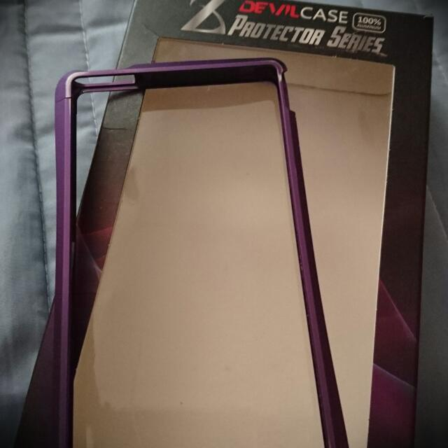Devil Case.  Sony Z 紫色鋁合金手機框