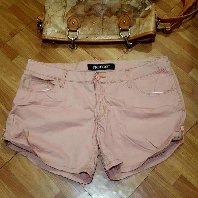 SALE |  Freego Cotton Pink Shorts