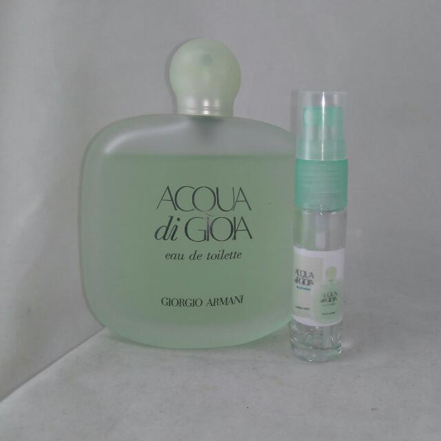 Giorgio Armani Acqua Di Gioia For Women,  10ml EDT (Repackaged)