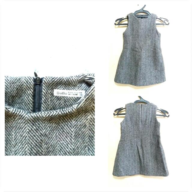 🚩SALE🚩 Gray BEBE Wool Dress For Kids