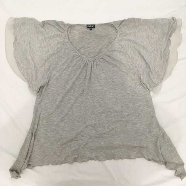 Gray Indivi Blouse