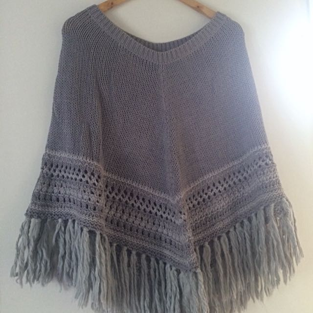 Grey American Eagle Poncho