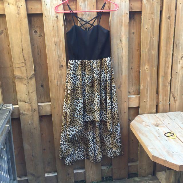 Hi-Lo Cheetah Print Maxi Dress