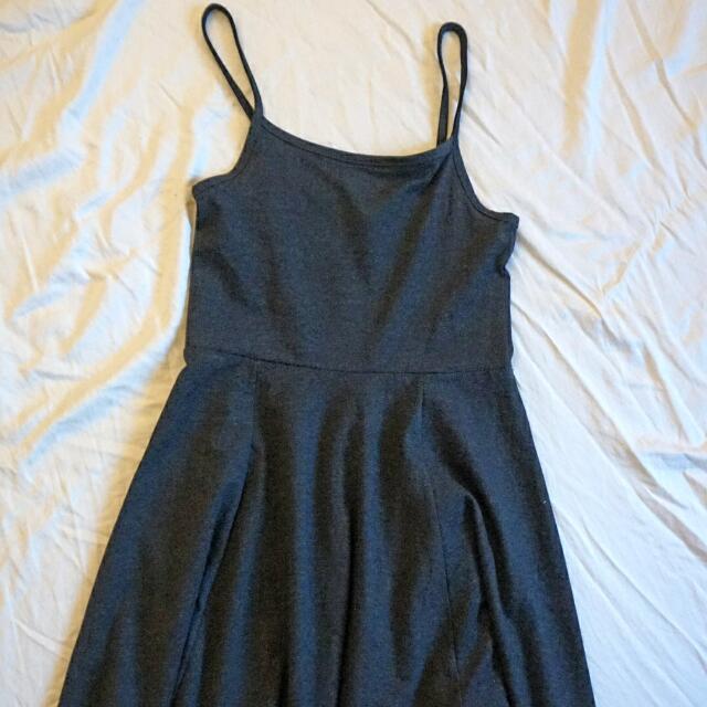 H&M, Basic Grey Skater Dress (XS)