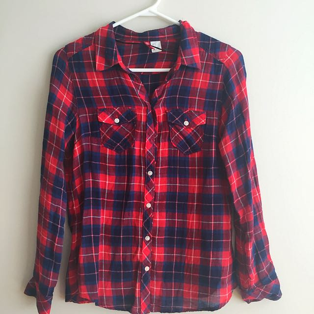 HnM Red & Blue Checked Shirt
