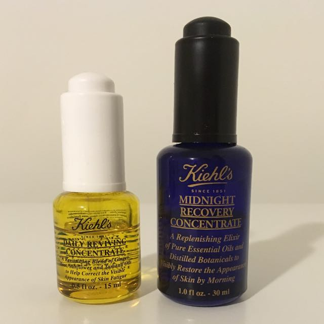 Kiehl's Daily Reviving Concentrate & Kiehl's Midnight Recovery Concentrate