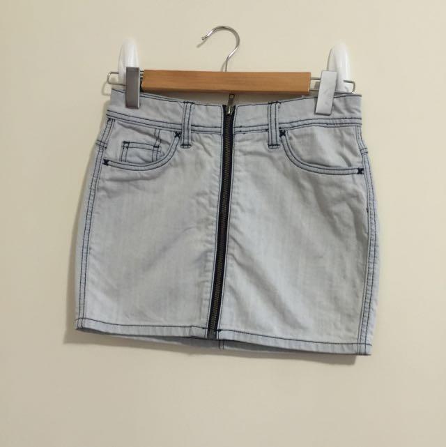LEE High Wasted Denim Skirt