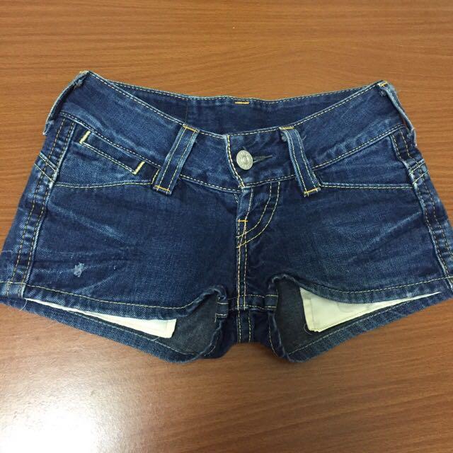 Levi's歐美低腰牛仔短褲熱褲