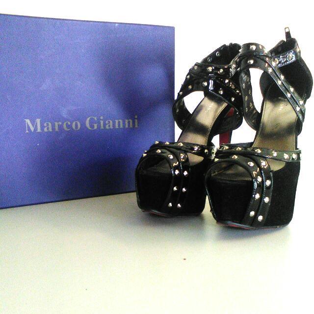 Marco Gianni Size 41 Black Pink Backs