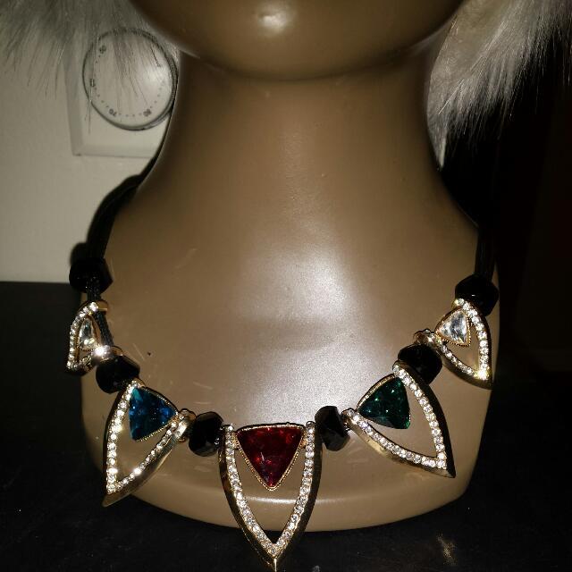 Multi Rhinestone Necklace