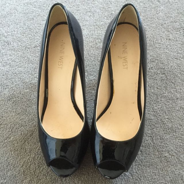 Nine West Camya Black Patent Size 8
