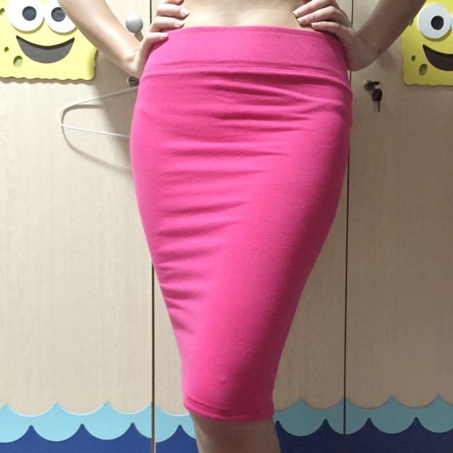 Pink Oranye Skirt (bisa dibalik)